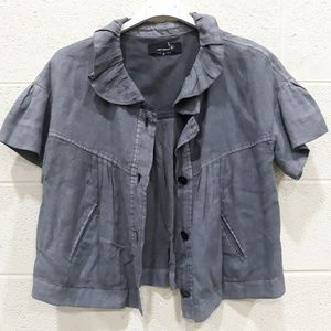 Isabel Marant Linen Cropped Jacket